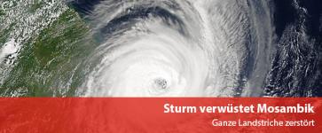 Sturm verwüstet Mosambik