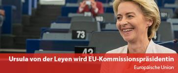 Ursula von der Leyen wird neue EU-Kommissionspräsidentin