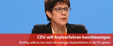 CDU will Asylverfahren beschleunigen
