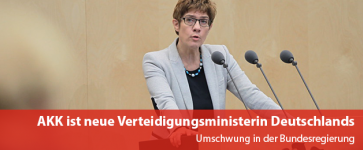 Kramp Karrenbauer neue Verteidigungsministerin Deutschlands